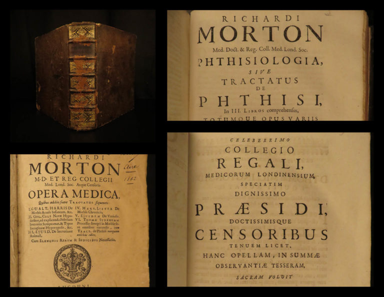 Image of 1718 Richard Morton Medicine Surgery Tuberculosis Anorexia + Sydenham & Lister