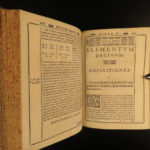 1589 Elements EUCLID Greek Mathematics Logic Geometry Math Clavius Commentary