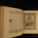 1865 EXQUISITE Bible Italian Renaissance Illustrated ART Raphael Titian RARE