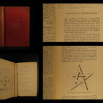 1886 MAGIC White & Black Hartmann Occult Esoteric Geomancy Fortune-Telling
