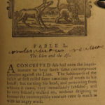 1784 Aesop Fables Illustrated 160 Woodcuts English Robert Dodsley Meziriac Myth