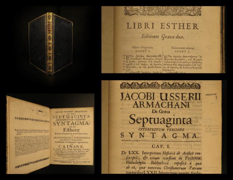 Image of 1655 1ed James Ussher Irish Bible Septuagint Old Testament Greek Bible ESTHER
