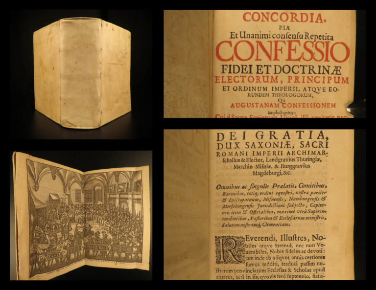 Image of 1685 Augsburg Confession Lutheran Reformation Martin Luther Rechenberg Concordia