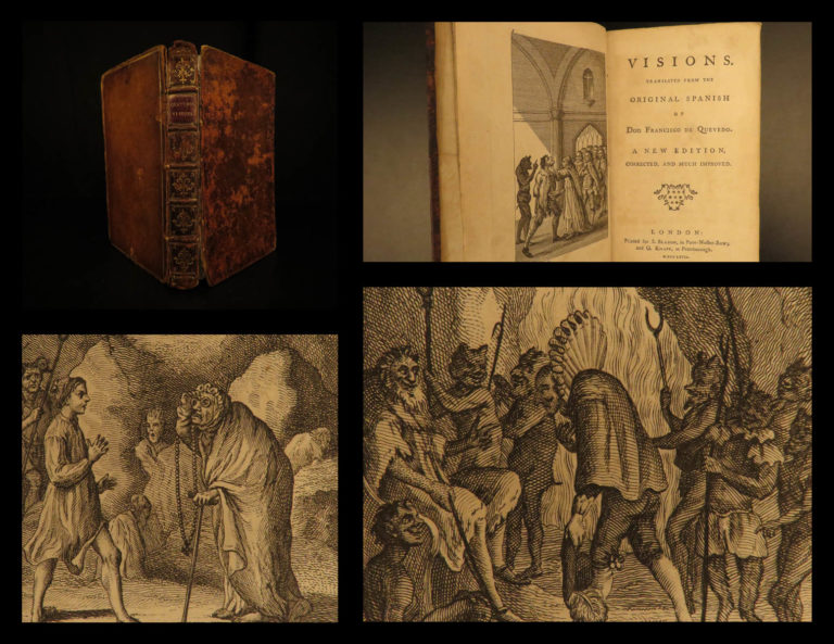 Image of 1767 Quevedo Visions Occult GHOSTS Spanish Fantasy Dreams Demons Hell English