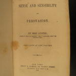 1857 Jane Austen Sense and Sensibility & Persuasion Feminism Romanticism Derby
