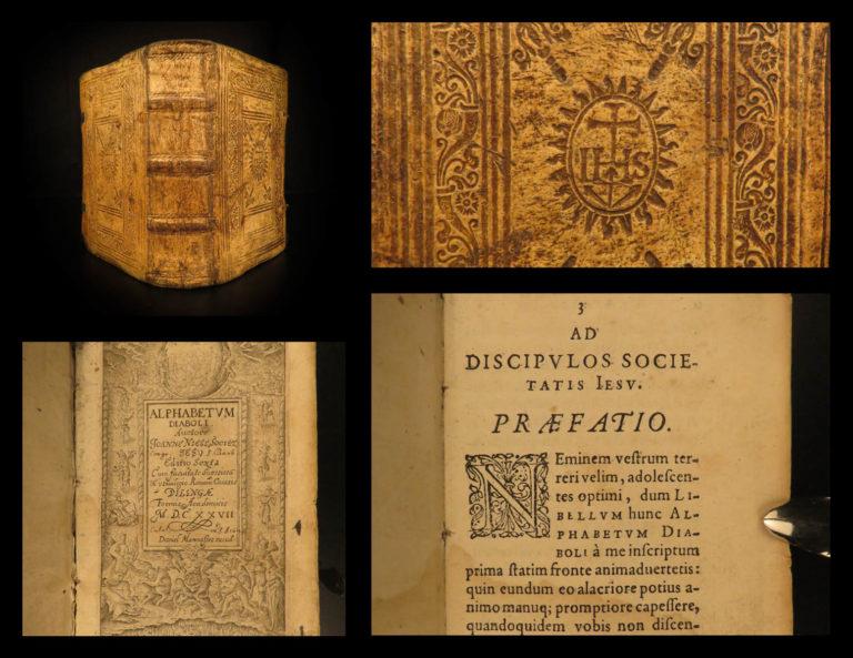 Image of 1627 1ed Alphabetum Diaboli Satan Devil DEMONS Hell Occult Jesuit Johann Niess