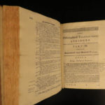 1733 1ed Martyn Philosophical Transactions Zoology Magnetism Optics Science RARE