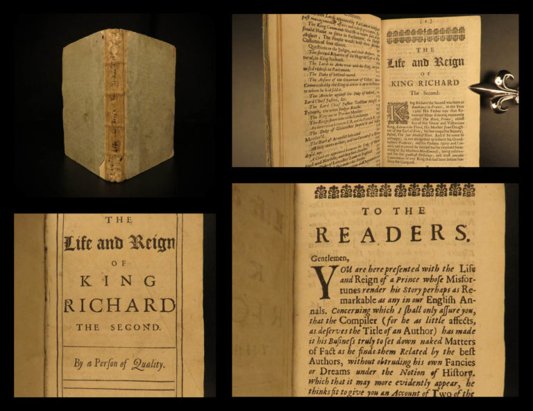 Image of 1681 1ed Richard II of England Life & Reign Hundred Years War Medieval Howard