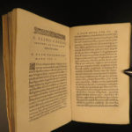 1588 1st ed Pliny the Younger Epistles Panegyricus Vesuvius ROME Early Church