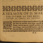1578 1ed Martin Luther ENGLISH Black Letter Reformation Bible Sermon Vautrollier