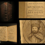 1698 1st ed History of Muscovy RUSSIA Empire Moscow anti Czar Russian MAP Crull