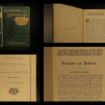 1883 1ed Charles SPURGEON Illustrations & Meditations Puritan Baptist Devotional