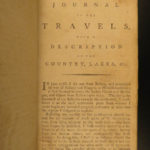 1792 Carver American Voyages INDIANS Tribe Mississippi Birds Snakes Great Lakes