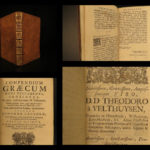 1702 BIBLE Greek & Latin New Testament Calvinism Hebraica Jan Leusden Leiden