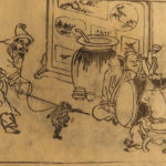 1721 Japanese Woodblock Print Chinese Figure Iconography Illustrated Moriatsu