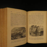 1870 River of the West Victor America INDIANS Oregon Rocky Mountains Illustrated