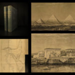 1860 Travel in Egypt Arabia Israel Holy Land Athens Pyramids Illustrated MAP 2v