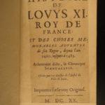 1620 Louis XI King of France Jean de Roye Hundred Years War Charles VII