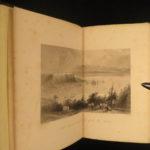 1843 1st ed Canada Nova Scotia Travel Voyages Toronto Montreal Illustrated MAP