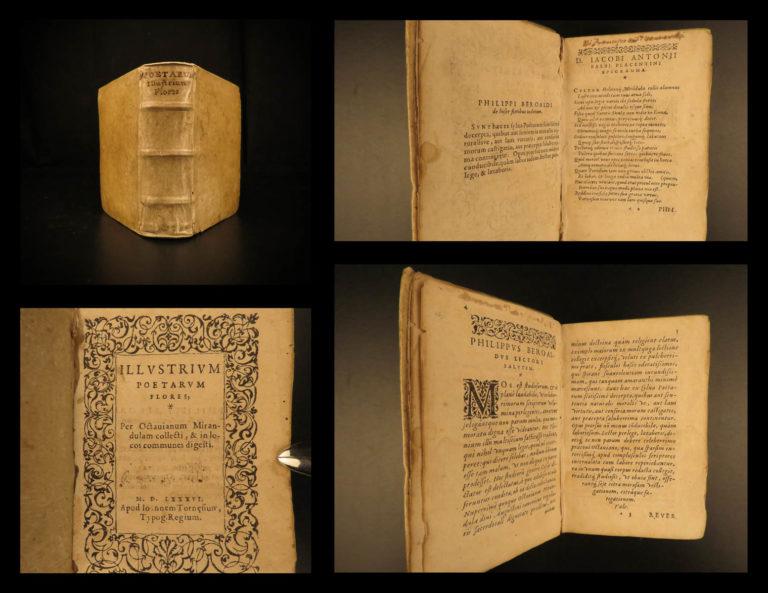 Image of 1586 Illustrium Poetarum Mirandula Latin Poems Virgil Ovid Horace Genvea Tournes