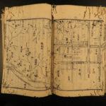 1772 1st ed Japanese Woodblock Edo Guidebook Topography MAPS Kikuoka Senryo 9v