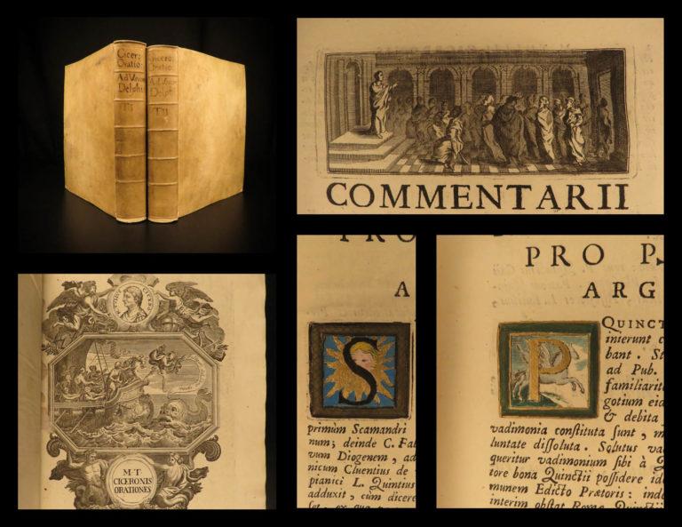 Image of 1725 Cicero Orations Rome Political Philosophy Merouville Latin Speeches Vellum