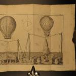 1785 1st ed AVIATION Aerostation BALLOONING Flying Science Experiments Cavallo
