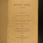 1807 Helms Travels from Buenos Aires to Lima PERU Mining Venezuela MAP Voyages