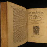 1638 Countess of Pembroke ARCADIA Philip Sidney English Scandal King James I