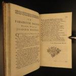 1730 Paradise Lost John Milton English Poetry Allegory Illustrated RARE Art