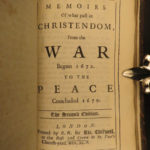 1690 William Temple Netherlands History English Franco-Dutch War Amsterdam 2in1