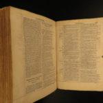 1556 RARE Biblia Sacra Vulgate BIBLE Lyon Frellon Jerome Latin Robert Estienne
