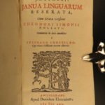 1665 Janua Linguarum Czech John Comenius Linguistics ELZEVIER Greek Latin French