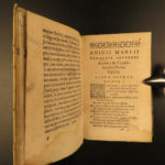 1581 Boethius Consolation of Philosophy Medieval Poliziano + Poemann Commentary