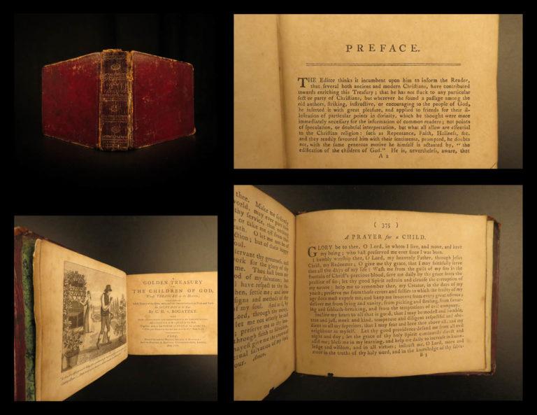 Image of 1799 Bogatzky Golden Treasury ENGLISH Bible Daily Devotional Hymns Prayers RARE