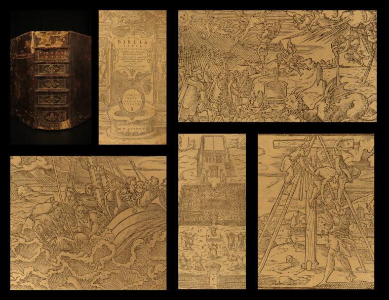 Image of 1588 Louvain Holy BIBLE Hentenius Latin Reformation Biblia Sacra WOODCUT Maps