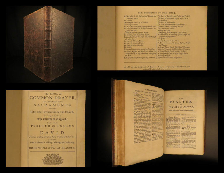 Image of 1762 ENORMOUS Book of Common Pulpit FOLIO Bible Prayer Psalms Church of England