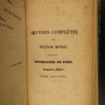 1831 1st edition Hunchback of Notre Dame Victor Hugo French Literature Paris