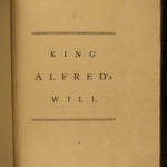 1788 Will of Alfred the Great England Anglo-Saxon Oxford Thomas Astle Commentary