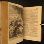 1693 EXQUISITE Catholic Church Breviary Council of Trent Prayers Leather Binding