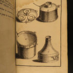 1690 CHEMISTRY Nicolas Lemery Chymie Experiments French Physics Science Alchemy