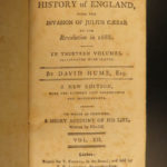 1793 David Hume History of England Scottish Enlightenment William Wallace 13v