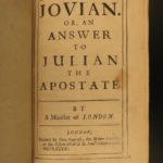 1683 1ed George Hickes Jovian Answer to Samuel Johnson Julian the Apostate ROME