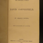 1850 1ed David Copperfield Charles Dickens Illustrated English Browne Literature
