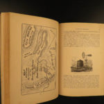 1885 Rand McNally Overland Guide Missouri River INDIANS Mining Hunting MAPS