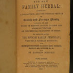 1867 New Family HERBAL Medicine Disease Cures Plants Botany Matthew Robinson