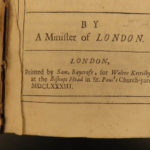 1683 1ed Julian the Apostate George Hickes Jovian Answer to Samuel Johnson ROME