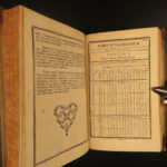 1763 Astronomy Tables Meridian Arc Illustrated La Caille + Hungarian Hell RARE