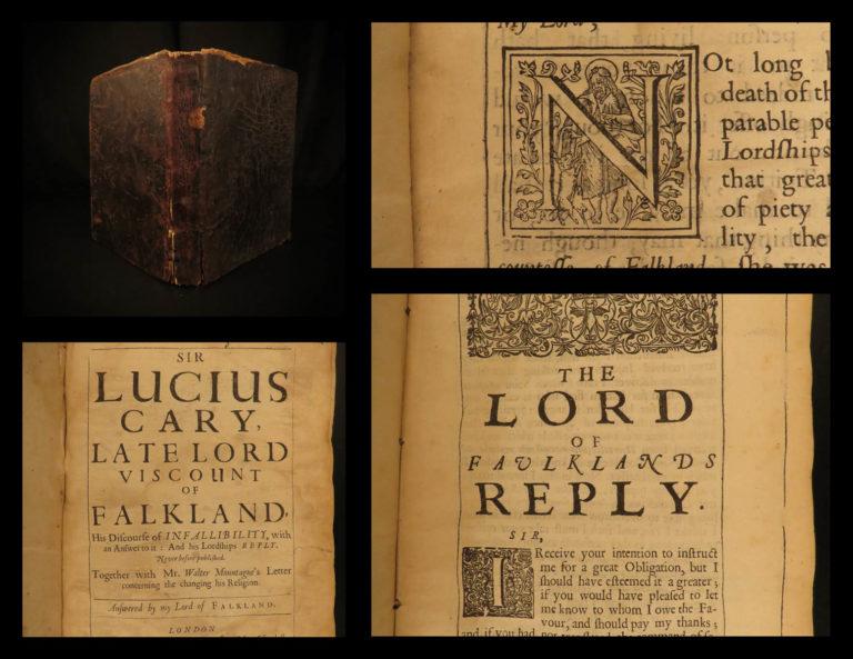 Image of 1651 On Papal Infallibility Lucius Cary Falkland Catholic Church Montagu Popes