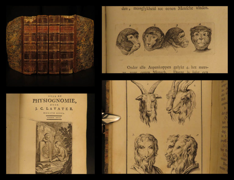Image of 1784 Physiognomy Essays DUTCH Lavater Illustrated Occult Sciences Psychology